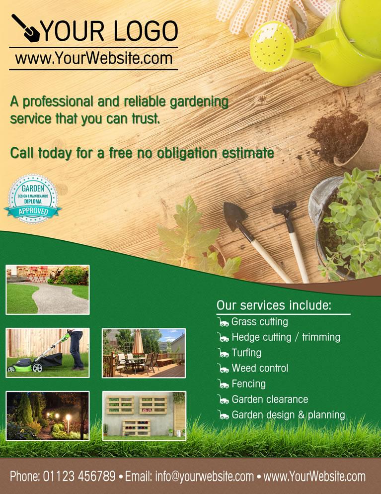 Garden Design Diploma Logos and Flyer Templates - New ...