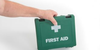 first aid person
